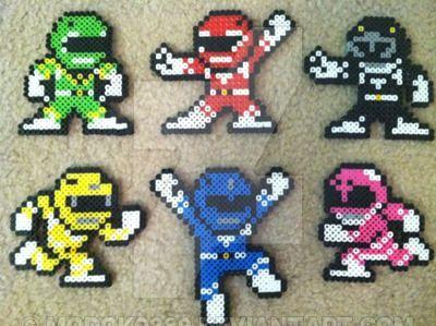My Completed Power Rangers Perler Bead Set