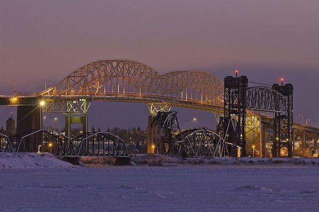 Sault Ste Marie, Michigan | international bridge, sault ste. marie, michigan | Flickr - Photo ...