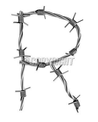 Barbed Wire Alphabet R