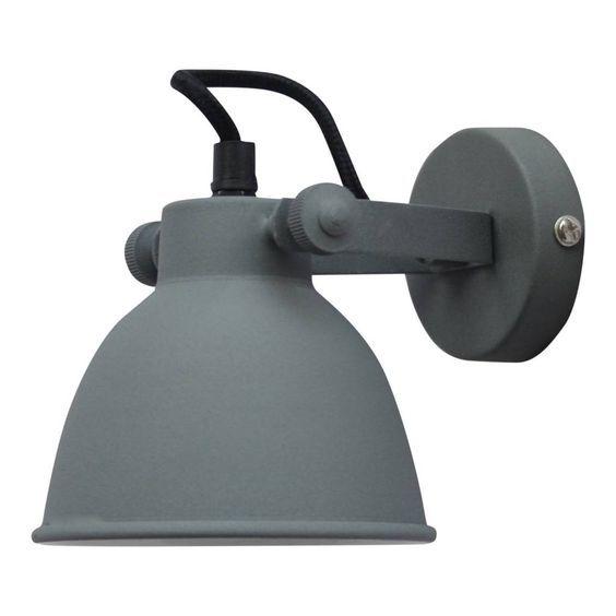 39,95 Verlicht jouw hal of overloop met deze grijze wandlamp industrieel.