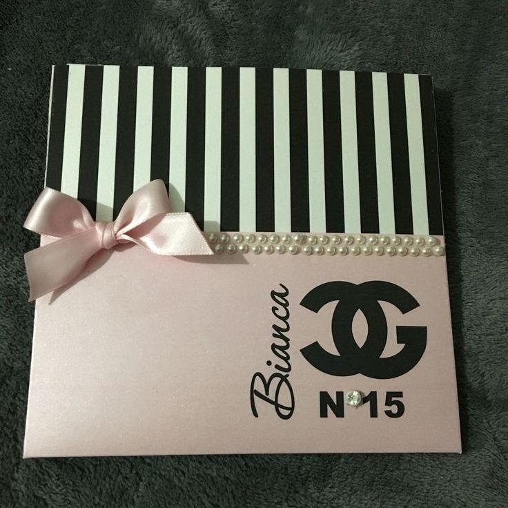 Tarjeta de 15 años - Chanel por #ViCani_Design