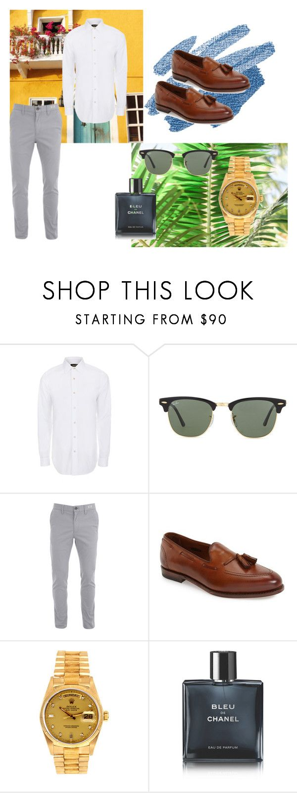 """""""tropic"""" by valentinacabarcasgs-1 on Polyvore featuring Paul Smith, Ray-Ban, Allen Edmonds, Rolex, Chanel, men's fashion y menswear"""