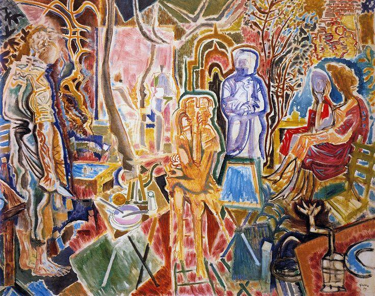 Βραδυνές αναπολήσεις, 1959. Δωρεά του Νίκου Χατζηκυριάκου-Γκίκα στην Εθνική Πινακοθήκη. Βλ. Res-Picta (Εικαστικά θέματα για μουσικές ακροάσεις). Πηγή: www.lifo.grΑφιέρωμα στο Νίκο Χατζηκυριάκο-Γκίκα.   ΣΑΝ ΣΗΜΕΡΑ   PLUS   Θέματα   LiFO