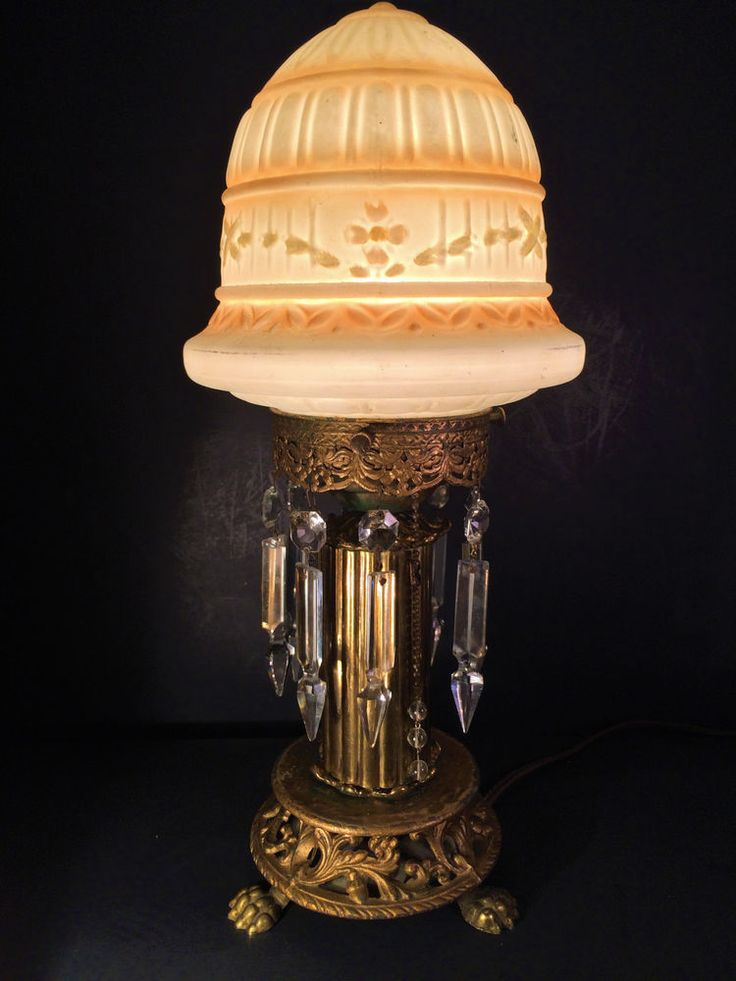 FINE ANTIQUE VICTORIAN/ EDWARDIAN PAW FOOT NOVELTY LAMP W/ GLASS DOME, C1910 #VictorianEdwardianNovelty