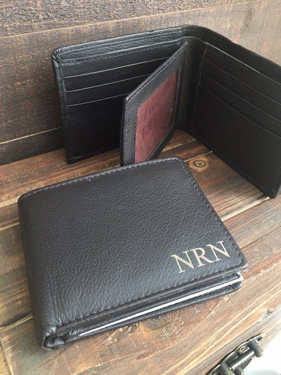 53b9a07de54f Personalized Bi-Fold Men s Leather Wallet