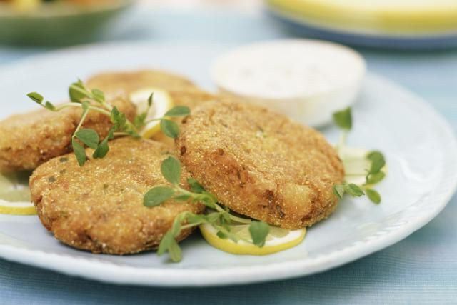 Enjoy this tried and true 5-star recipe for salmon patties made with canned salmon, eggs, bread crumbs, and seasonings.