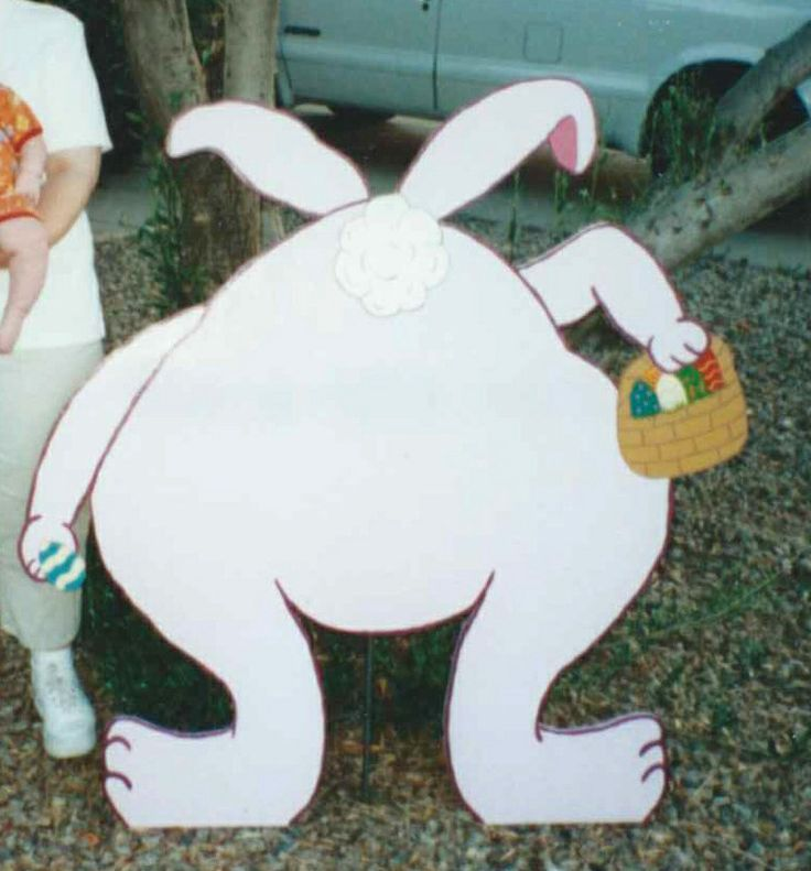 Easter Butt Bunny 4ft Yard Decoration I Made From Plywood