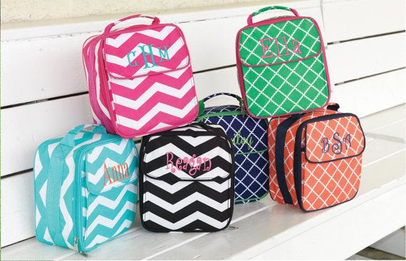 Lunch Bags Personalized - Monogram, Name or Greek Letters...great for travel, park, pool, back to school...