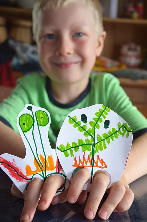 Making finger leg puppets - with a free printable template to help get the leg holes right!