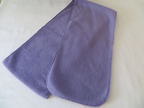 "Lilac Fleece Scarf - 80"" x 8.5"" of soft warm thermal fleece for warmth."
