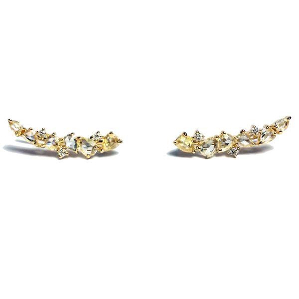 Rose Cut Diamond Ear Crawlers