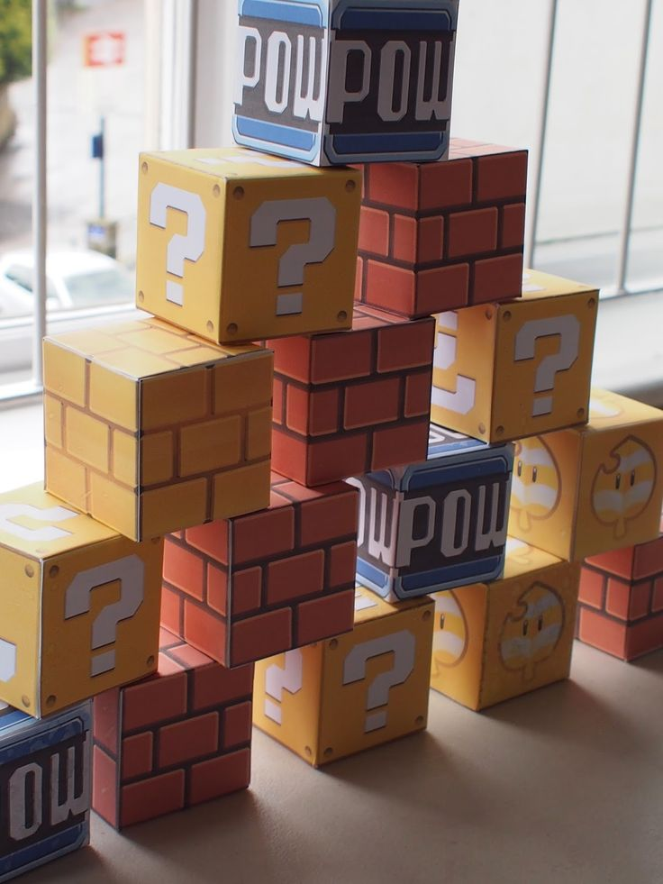 I made these printable Super Mario 3D World block templates for my son's birthday party. They look fantastic, and he still plays with them y...