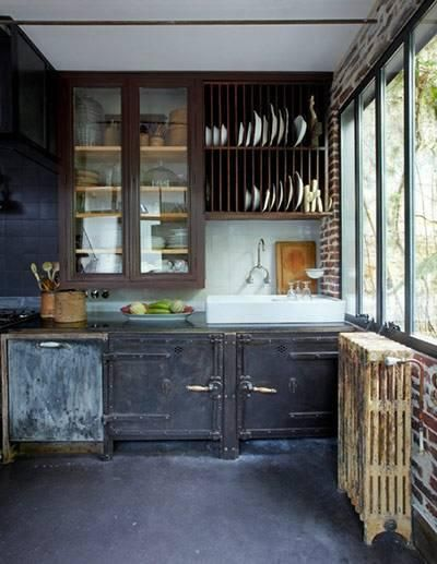 Reclaimed/industrial cabinets/shelving