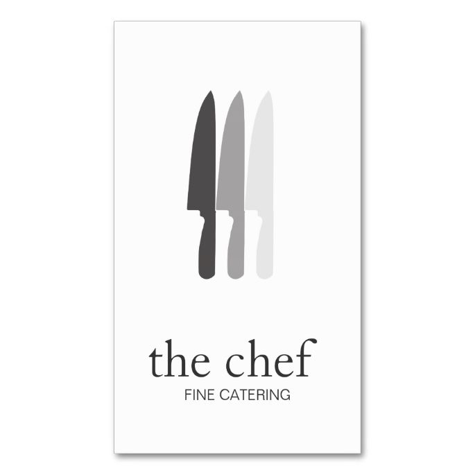 Personal Chef Knife Logo Simple Culinary Catering Double-Sided Standard Business Cards (Pack Of 100). This great business card design is available for customization. All text style, colors, sizes can be modified to fit your needs. Just click the image to learn more!