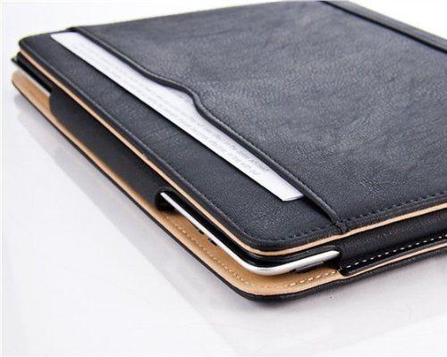 Etui-housse-pour-Apple-iPad-protecteur-d-039-ecran-smart-folio-en-cuir-clair-flip-noir