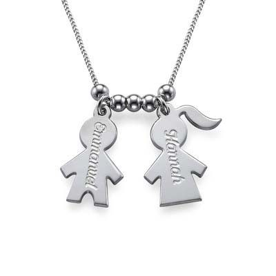 Mothers Day Jewellery - Necklace with Kids Charms | MyNameNecklace