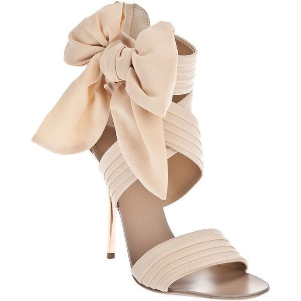 GIUSEPPE ZANOTTI Bow detailsandal (98.130 HUF) ❤ liked on Polyvore featuring shoes, sandals, heels, zapatos, sapatos, women, strappy heeled sandals, beige strappy sandals, beige heeled sandals and beige strappy shoes #giuseppezanottiheelszapatos