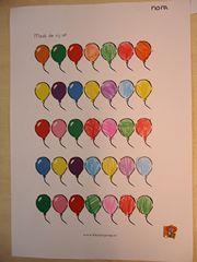 werkblad ballonnen reeks afmaken