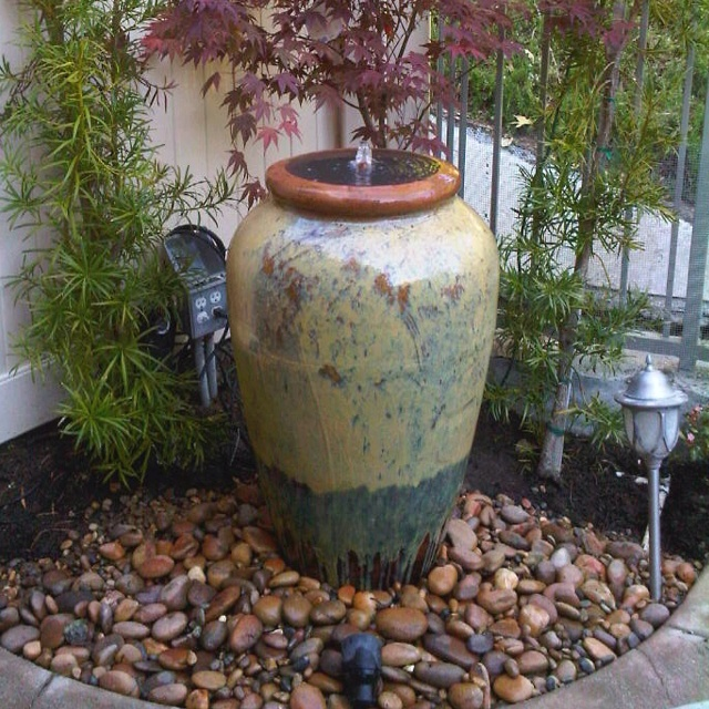 37 best images about backyard beauty fountains and fire for Homemade pond fountain ideas