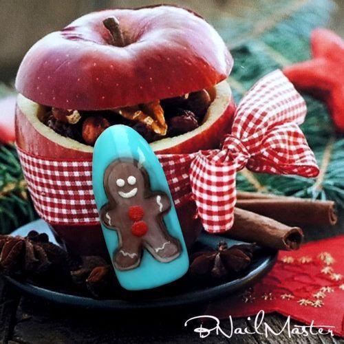 Gingerbread Man Nail Art Tutorial