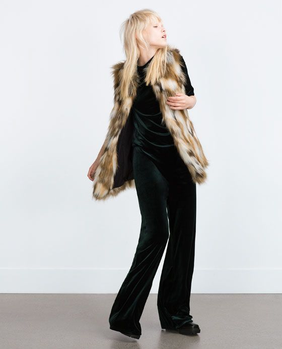 Image 1 of FAUX FUR WAISTCOAT from Zara