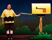 Set design for You're a Good Man Charlie Brown at the Old Lyric Repertory Company.