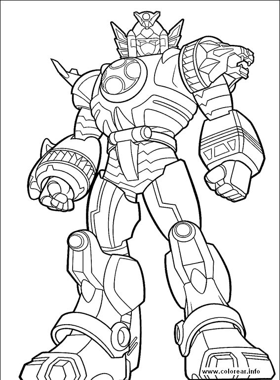 online printable Power Rangers Megazord coloring pages