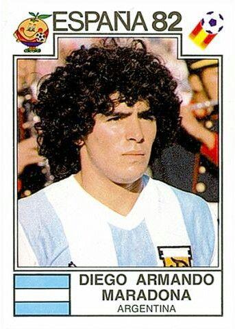 176 Diego Armando Maradona - Argentina - FIFA World Cup España 1982