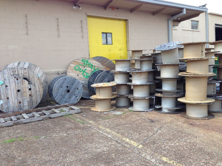 Wooden cable spools for free.