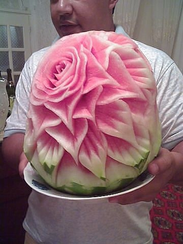 Best Carving Images On Pinterest Fruit Carvings Vegetables - Incredible sculptures carved watermelon