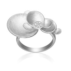 Parousia silver ring with diamonds.http://anettewille.dk