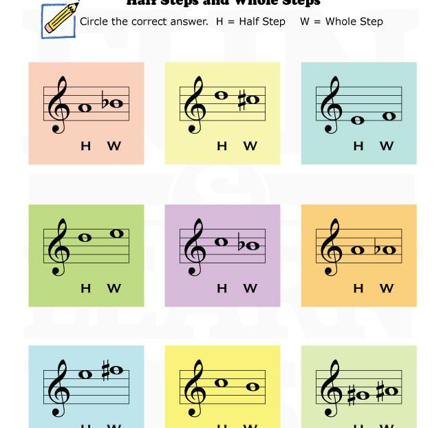 ... Steps & Half Steps on Pinterest | Music worksheets, Worksheets and Fun