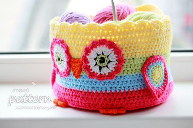 New Pattern – Crochet Owl Basket