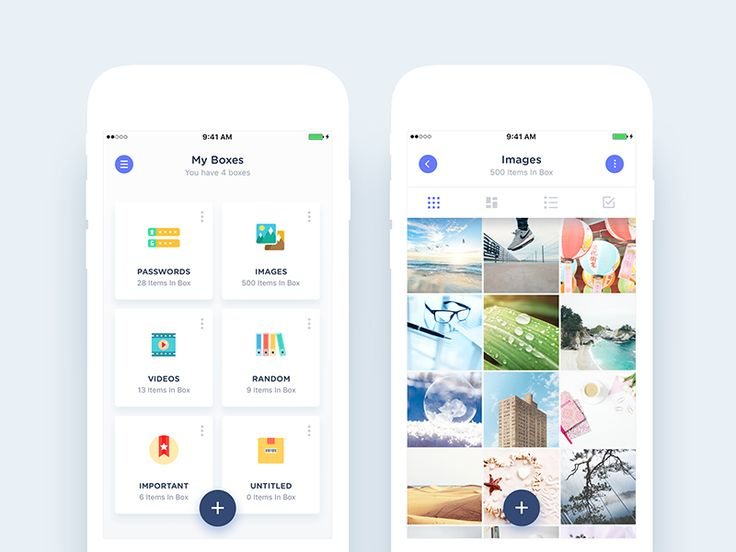 Boxes (Folders) & Single Box (Folder) Views by Nimasha Perera