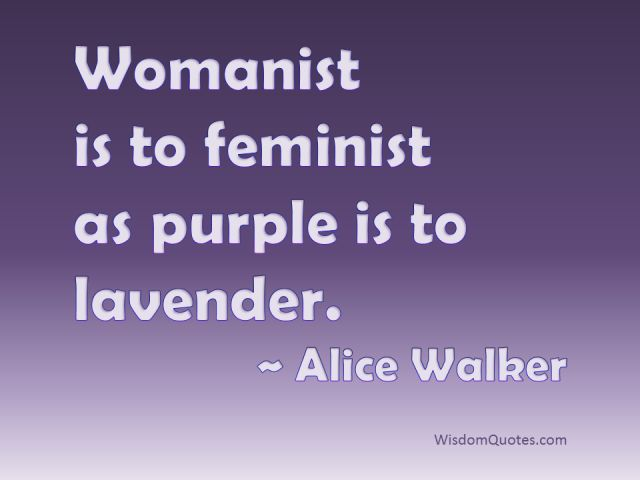 color purple feminist analysis Feminist/womanist criticism walker prefers the term 'womanist' to 'feminist', so it  is important to bear this in mind when studying the novel a 'traditional' feminist.