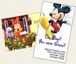 This is such a cool idea! Print out thank you cards for cast members (i.e. workers)