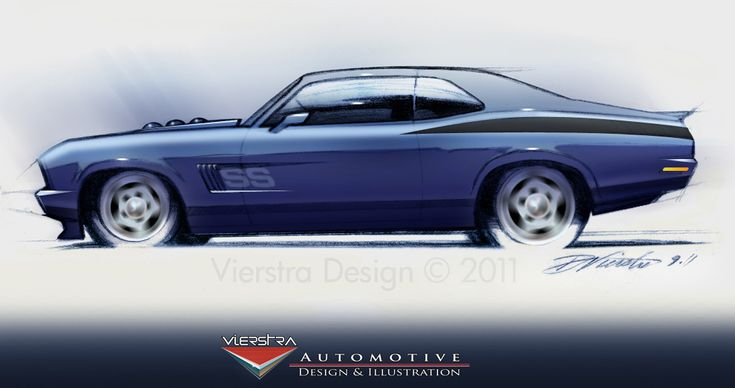Chevy Nova - pencil sketch and digital airbrush Restyle/update look. vierstradesign.com 2011 ©