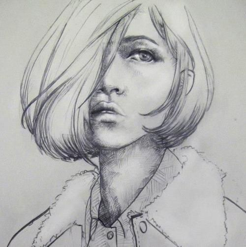 Face Sketch | Sketch U261dufe0f | Pinterest | Sketches Girl Sketch And Drawings