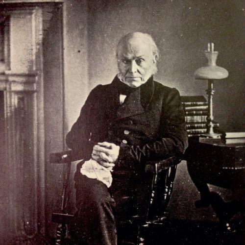 John Quincy Adams in a daguerreotype from the 1840s