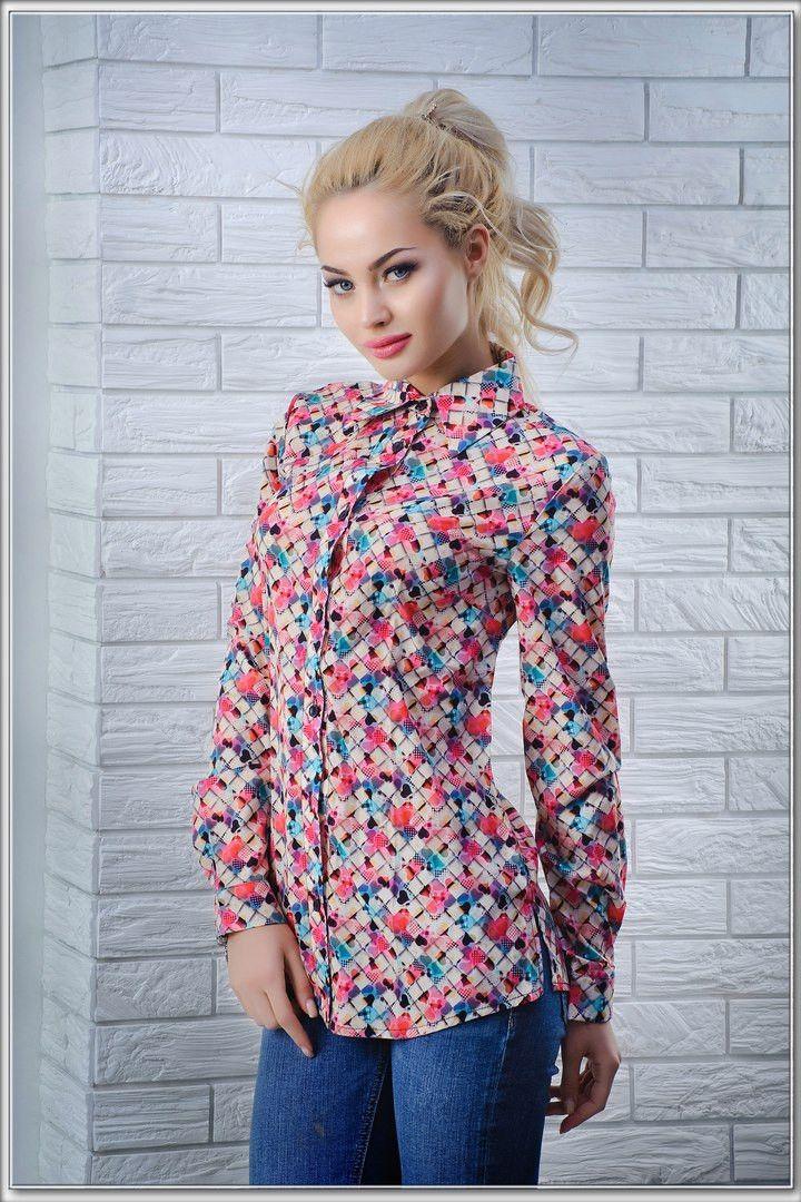"""Стильная рубашка с принтом: продажа, цена в Одессе. блузки и туники женские от """"Интернет-магазин стильной одежды """"x04y"""""""" - 472563440"""
