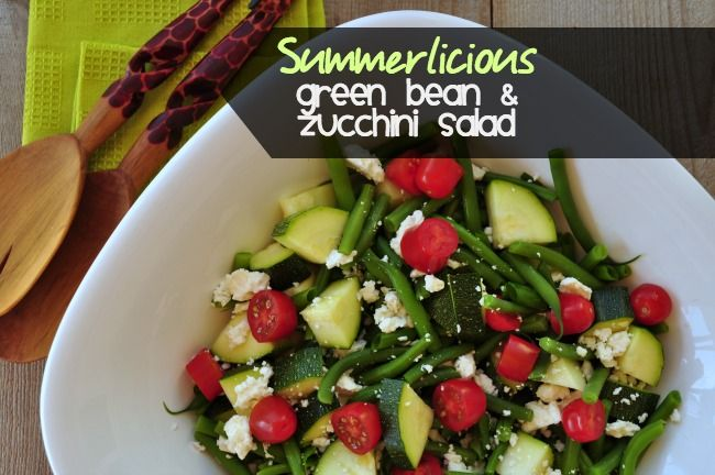 ... ! Fresh Green Bean and Zucchini Salad with Balsamic Dressing