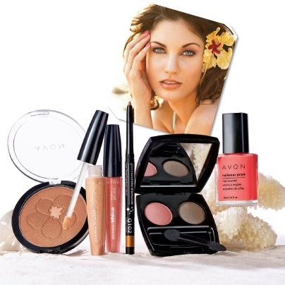 """Do you switch up your beauty routine in the summer? If so, tell us which item you switch to. Our reco: Swap lipstick for gloss, change your powder to a bronzer and add a fun coral inspired shade to nails. Our Hawaiian Shores """"Hawaiian Glow"""" Collection is a great place to start. Contact your Avon Independent Sales Representative today or visit http://www.ca.avon.com/PRSuite/locator.page to find one near you!"""