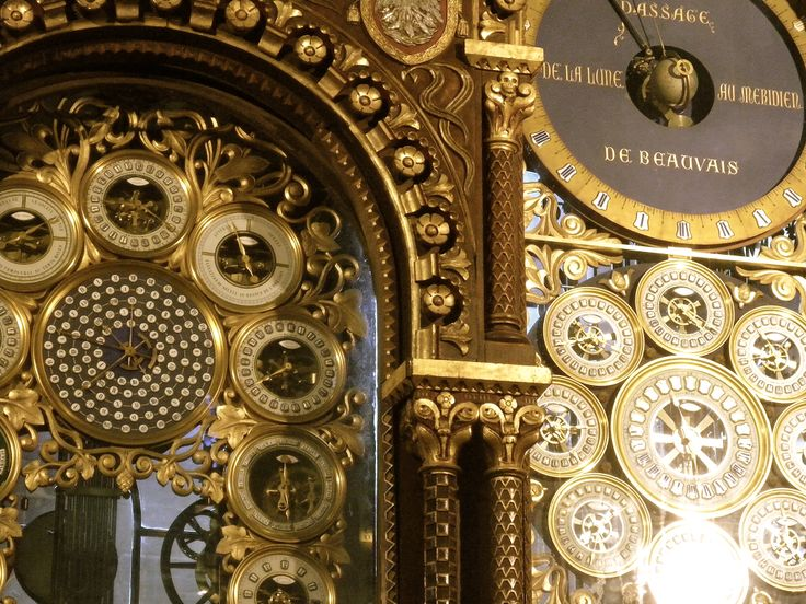 France. Beauvais.... Detail of the Astronomic Clock by Auguste Lucien Vérité (1806-1887) in the Cathedral of Beauvais