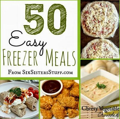 50 Easy #Freezer #Meals. I must try these.