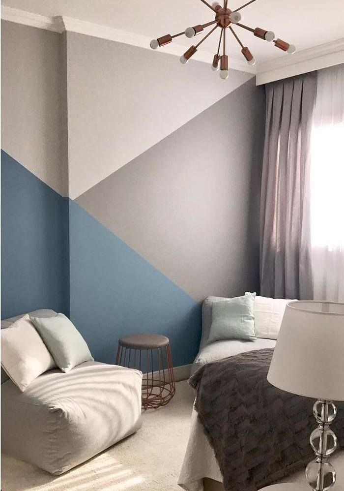 Geometric Accent Wall Trend 45 Inspiring Wall Mural Designs That Will Beautify Your Home Wallmurals Ho In 2020 Wall Trends Bedroom Wall Paint Geometric Wall Paint