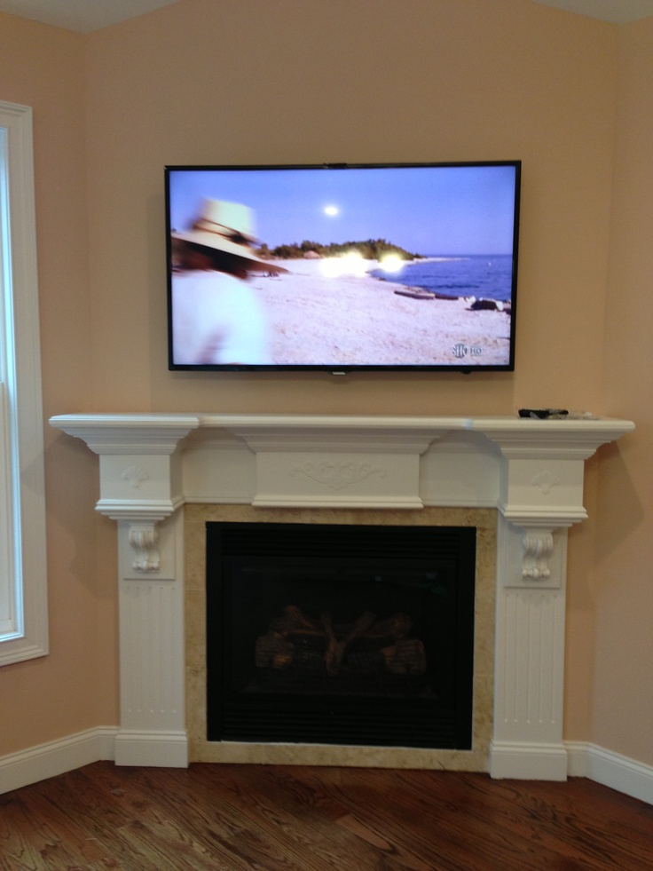 Tv Over Fireplace Hidden Cable Box Residential Projects Pinterest Tv Over Fireplace