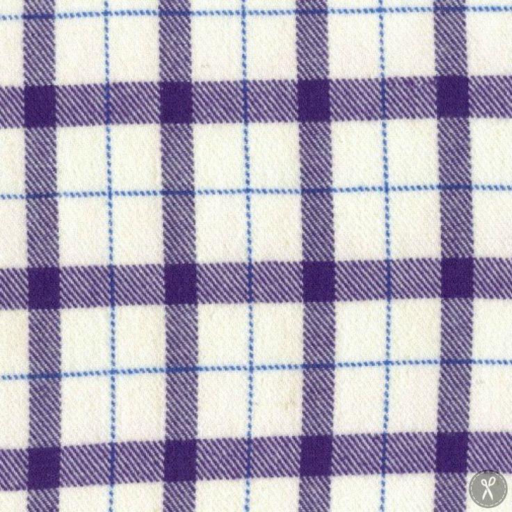 Primo Plaid Flannel Fabric Large Plaid - Purple
