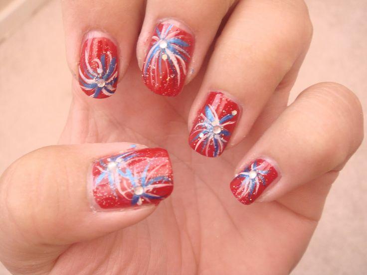 4 of july nail art