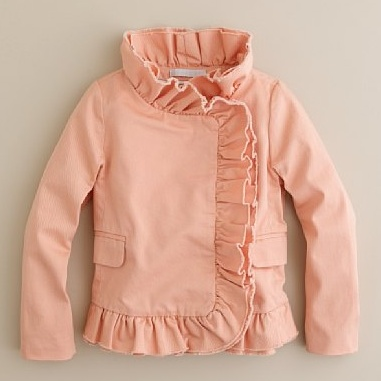 little girl ruffle jacket. - kid fashion Would be adorable with a pair of jeans or paired with a skirt.