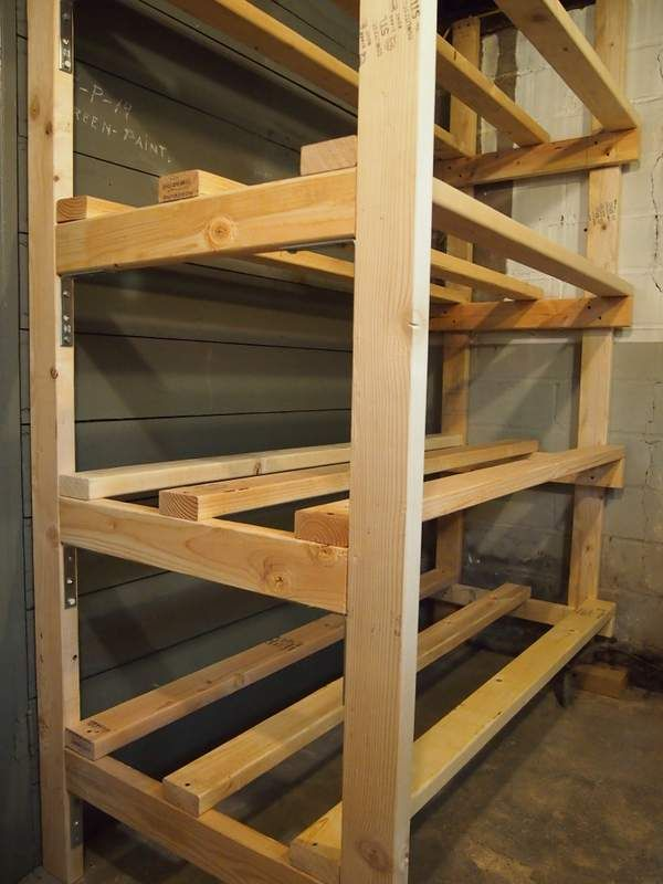 Building Storage Bin Racks In The Basement Basement